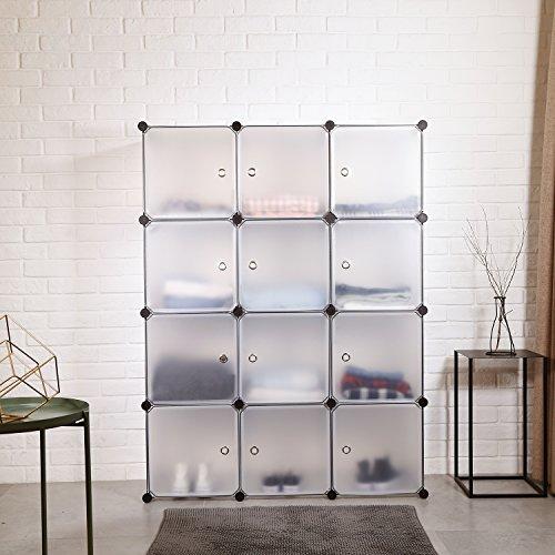 Homfa Armadio Modulare con 12 Cubi, Scaffale Componibile ...