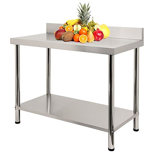 LARS360 Tavolo da lavoro in acciaio inox, per Cucina ...