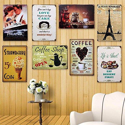 Ducomi targhe vintage metallo decorative per cucina e casa for Greche decorative per cucina