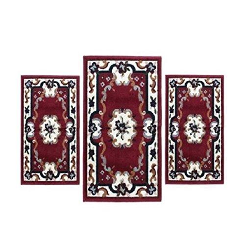 Garden for gb scendiletto parure 3 pezzi forma for Tris tappeti camera da letto