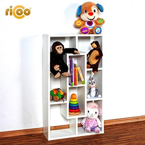 RICOO Mensola da Muro o da Basso per casa WM050-W Libreria ...