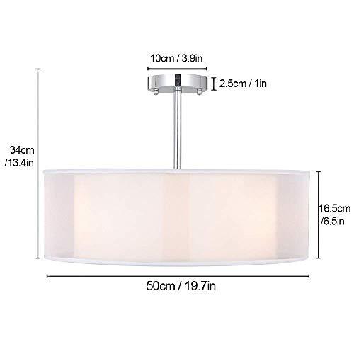 Lampada da soffitto lampada plafoniera sparksor lampada a sospensione in tessuto 50 cm di - Plafoniera camera da letto ...