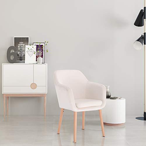 Woltu bh134cm 1 poltroncina con braccioli sedia per camera da letto studio cucina imbottita - Tavole di legno per edilizia ...