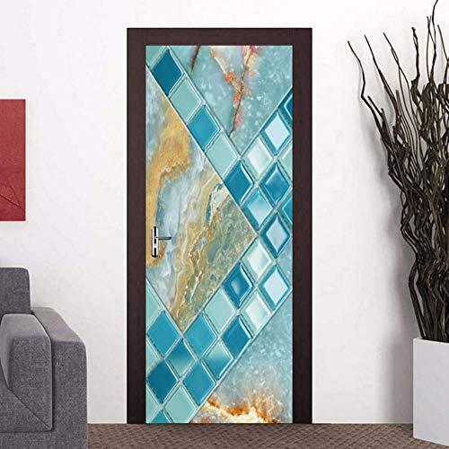 Zxdcd Adesivo Per Porte In 3D Mosaico Modello In Marmo ...