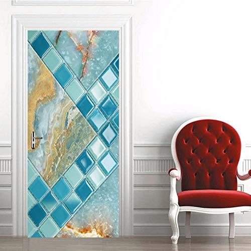Zxdcd adesivo per porte in 3d mosaico modello in marmo for Mosaico adesivo 3d