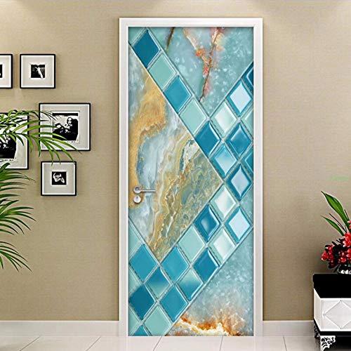 Zxdcd adesivo per porte in 3d mosaico modello in marmo for Carta da parati impermeabile per bagno