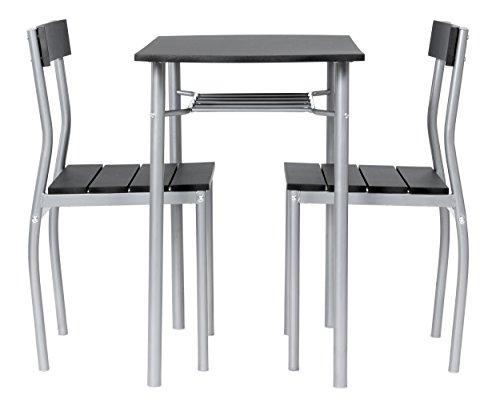 ts-ideen 2822 Set 3 Pezzi Tavolo con 2 sedie in Alluminio ...