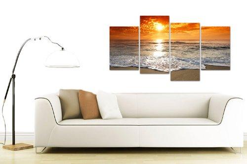 Grande Quadro su Tela Tramonto - Wall Art Foto Soggiorno ...
