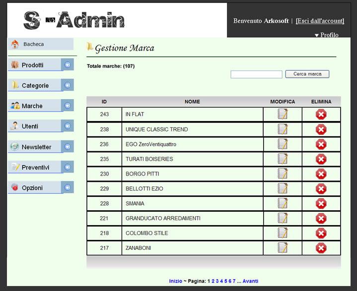 Software arredamento galleria pannello for Software arredamento